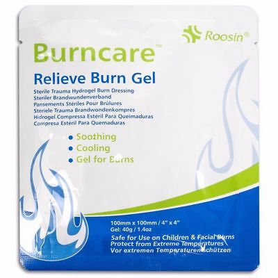Burn Care Hydrogel Relief Dressing 10cm x 10cm, burn & Scalds, Facial Burn