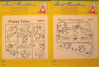 1 X 5  Mixed Packs Of Aunt Martha's Hot Iron Transfers - Free Postage.