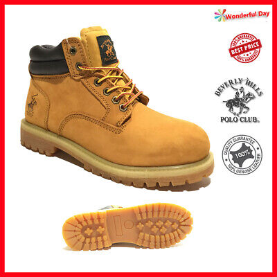 Kingshow Mens Winter Snow Work Boots Shoes Genuine Leather Waterproof 8036