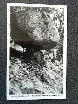 Vintage Postcard Real Photo The Mushroom Rock Mt Buffalo Victoria Australia