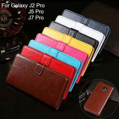 For Samsung Galaxy J2 J5 J7 Pro Premium Wallet Leather Case Flip Card Cover
