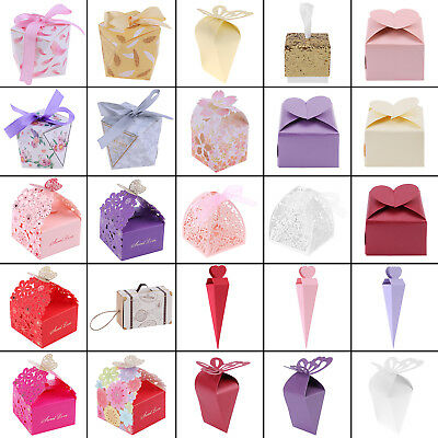 10/20/50Pcs Paper Favor Candy Box Gifts Packing Wrapping Box Wedding Party Decor