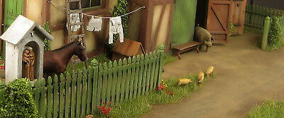 Big diorama base with shed, 1:35,  built and painted