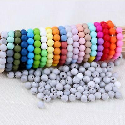 10pcs  Food grade Silicone loose Beads Baby Teether Pacifier chain  Accessories