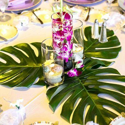 Large Tropical Palm Monstera Plant Leaves,for Hawaiian Jungle Beach Party Decor