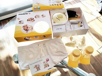 Medela Swing Maxi Electric Double Breastpump + Expression Bustier M&L