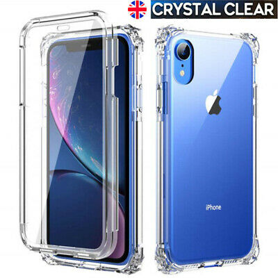 Shockproof Clear Silicone Gel Bumper Soft Case Cover For iPhone XR XS Max 6s 7 8