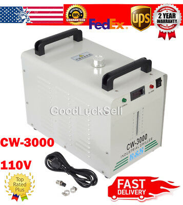CW-3000 110V Thermolysis Industrial Water Chiller fr 60/80W CO2 Glass Laser Tube