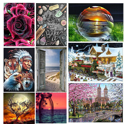 Full Drill Christmas DIY  5D Diamond Painting Embroidery Cross Crafts Stitch Kit