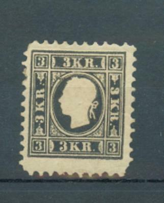 Austria 1858 3Kr as sg.23 but perf 11 MH presumed to be reprint