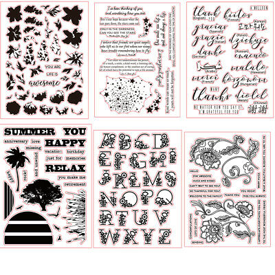 Letters Transparent Clear Silicone Rubber Stamp Diary Scrapbooking DIY Decors