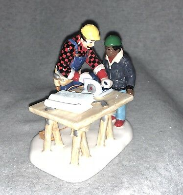 """DEPARTMENT 56 """"Construction City Workers"""" From The Original Snow Village."""