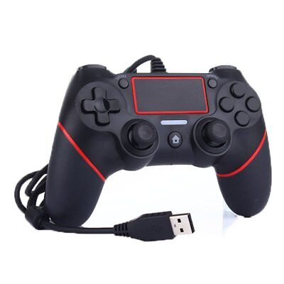 Rouge wired usb controller manette gamepad pour ps4 playstation 4 jeu