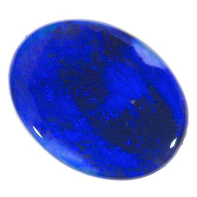 LOVELY RICH ROYAL BLUE 1.38ct 10x8mm SOLID  BLACK CRYSTAL OPAL LIGHTNING RIDGE