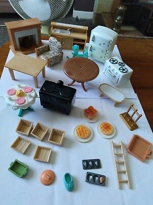 Sylvanian Families Furniture and spare parts bundle (please read description)