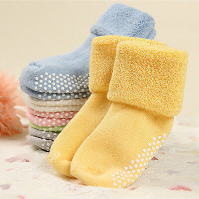 Candy Color Baby Toddler Socks Anti Slip Warm Newborn Thicken Warm Socks