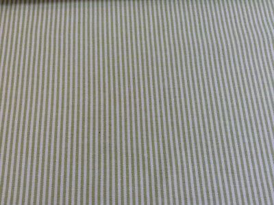 Remo Woven Ticking Stripe Cotton Curtain//Craft Fabric Charcoal