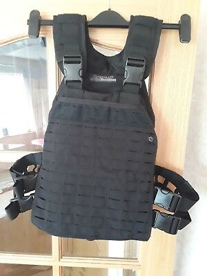 PENTAGON ZEUS PLATE Carrier Tactical Laser Cut MOLLE Vest Airsoft Police  Black