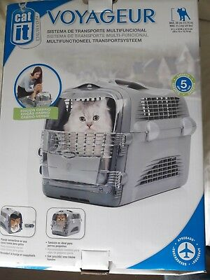 Catit Cat Carrier AIRLINE Pet Travel Case Top Hatch Safe AIR Travelling CRATE