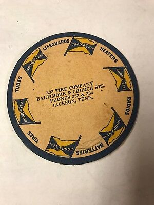 1930s Advertising Coaster Goodyear Tires Jackson Tennessee TN