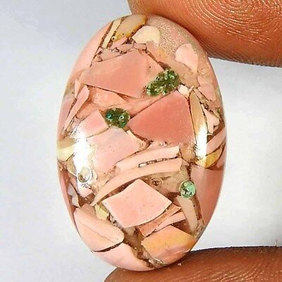 18.10CtsNatural Pink Opal blue Copper Oval Cabochon Loose Gemstone