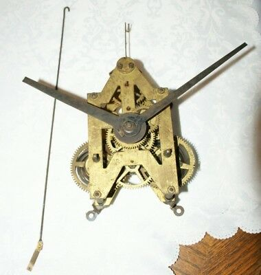 Large Antique Wall Clock Movement, Spares/Repair