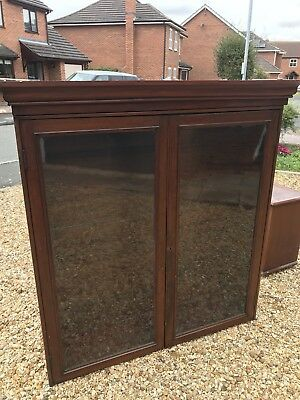 Antique Victorian Mahogany Bookcase With Base Unit. 4 Internal Shelves. Original