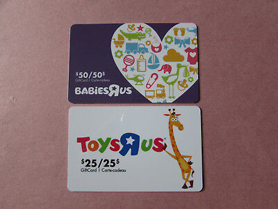Toysrus Babiesrus Gift Card Canada No Value Toys R Us Babies R Us