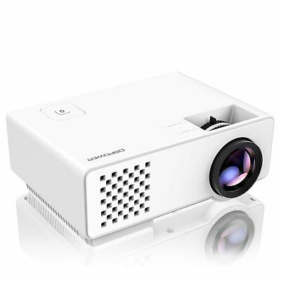 Portable HD Video Projector LCD Home Theater with 120'' Display, Support 1080P