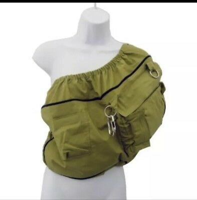 Lil Cub Hub Cub CO-Z Convertible Baby Toddler Carrier & Diaper Bag Bosana Green