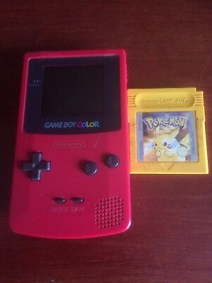 Nintendo Game Boy Color - Red, With Pokemon Game