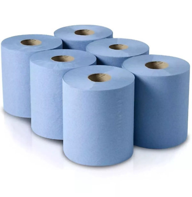 Centrefeed Tissue Blue Roll Paper Hand Towel Gym Commercial Industrial 2 Ply
