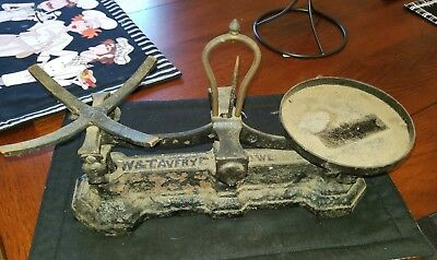 Antique W & T Avery Cast Iron Scale