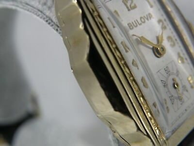 Serviced...art Deco  1930`S  Bulova   * Princeton  *....Yellow G.f.   Case Wow