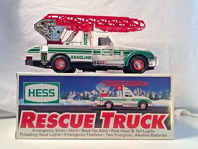 1994 Hess Toy Rescue Truck In Original Box Collectible Vintage Fully Tested!