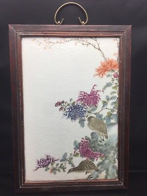 Rare Chinese Families Rose Wall Panel 19/20th Century
