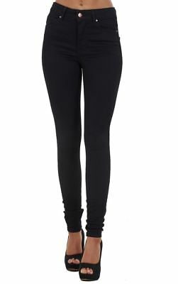Ladies Quality Black Denim Womens Pants Stretch Super Skinny Jeans