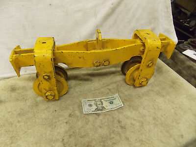 "1Ton OverHead Hoist Trolley 2"" Straight or Curved 2000 lb. 4"" wheels 14"" Long"