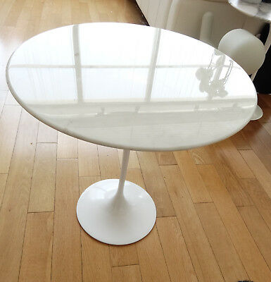 Original Vintage Knoll Saarinen Side Table Marble