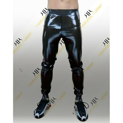 Latex Trainingshose Freerunner Herren schwarz transparent XS S M L XL XXL
