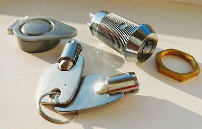Key Switch Shunt On/Off, 2 Pole, 1 Position, Tubular, 2 Keys High Security
