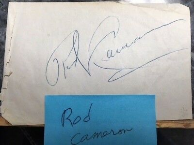 Autograph Signature Rod Cameron  1940s and early 1950s western film star