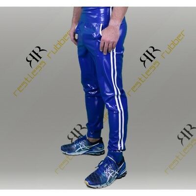 Latex Jogginghose Stripes Herren blau weiß NEU XS S M L XL Rubber