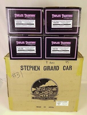 Mth-Lionel #10-1068 Set Of (4) Contemporary Stephen Girard Passenger Cars-Mib!