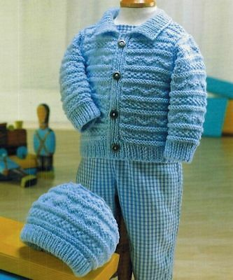 baby / childrens jacket and hat dk knitting pattern 233