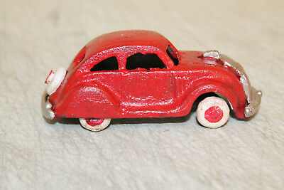 Antique Vintage Style Cast Iron Red Car Toy