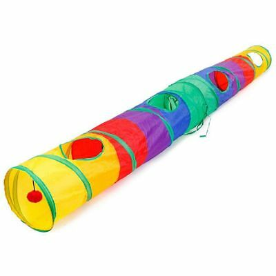 Cat Tunnel Pet Tube Collapsible Play Toy Indoor Outdoor Kitty Puppy Toys fo O8E1