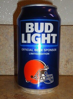 Bud Light * 2018  * Cleveland  Browns  *  12 Oz  Aluminum  Can * Bottom Opened