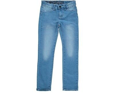 Girls toddler blue skinny jeans jeggings trousers wash effect various sizes
