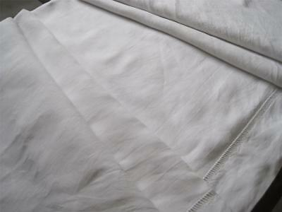 Vintage French Pure Linen Sheet, A Lovely Voile Curtain For Bathroom Or Bedroom